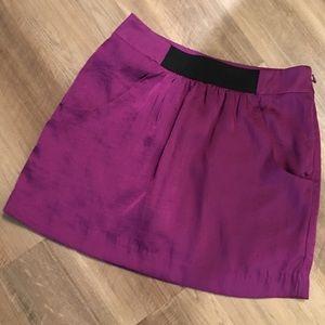 LOFT Ann Taylor Satin Miniskirt NWOT